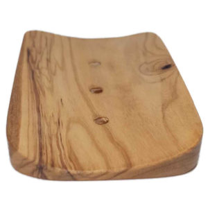 Olive wood soap holder from Italy