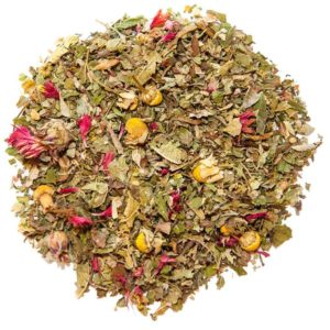 Organic tea with safflower