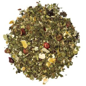 Fresh and minty organic tea blend